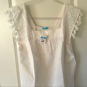 Kris solid women's blouse white